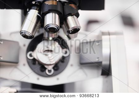 The image of a microscope