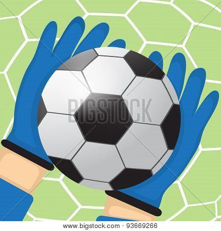 Goalkeeper batted ball
