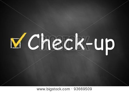 Black Chalkboard Check-up Checkbox Marked
