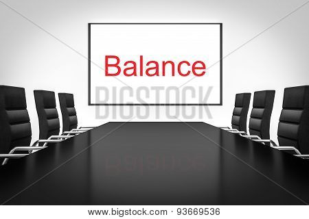 Conference Room Large Whiteboard Balance