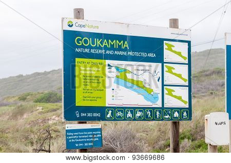 Map Of The Goukamma Nature Reserve