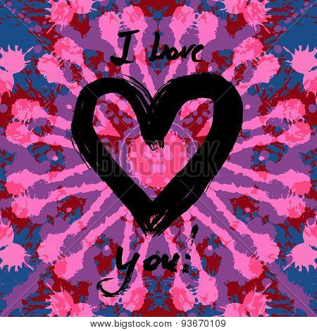 Grunge valentine card.