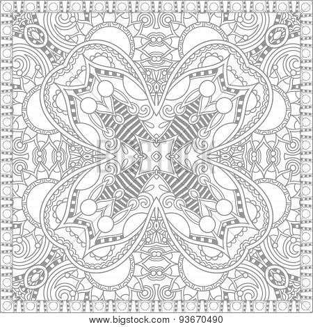 unique coloring book square page for adults - floral authentic c