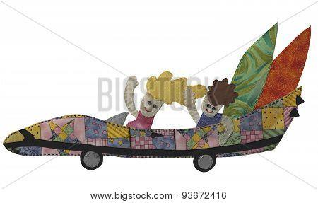 car - patchwork