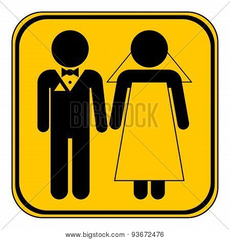 Wedding Couple Button.