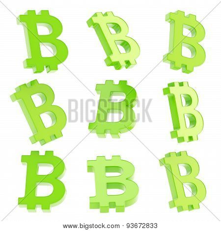 Bitcoin currency sign render