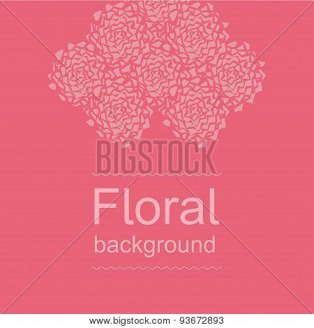 Amaranth floral background. Broken peonies.