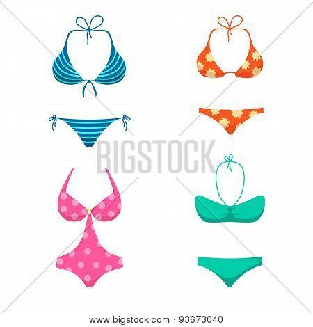 Women swimsuits.