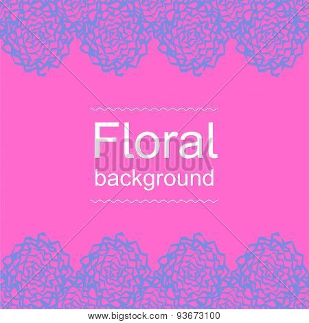 Pink-blue Floral Background