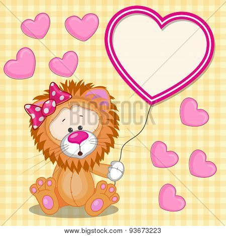 Lion With Heart Frame