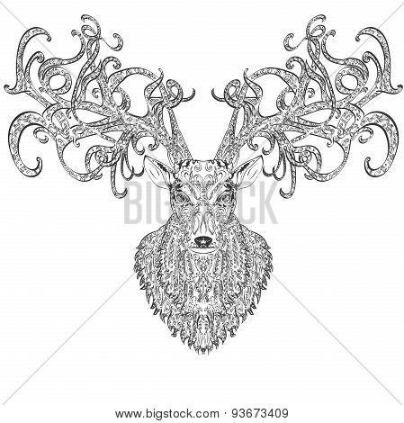 Stylised deer