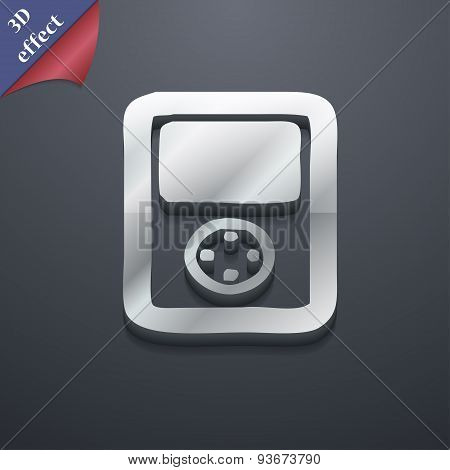 Tetris, Video Game Console Icon Symbol. 3D Style. Trendy, Modern Design With Space For Your Text Vec
