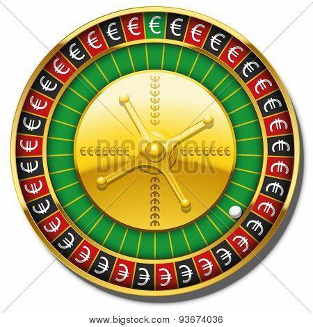 Euro Roulette Wheel Symbol Win