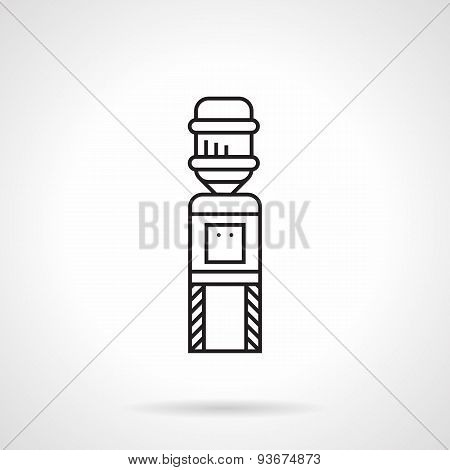 Flat line water cooler vector icon