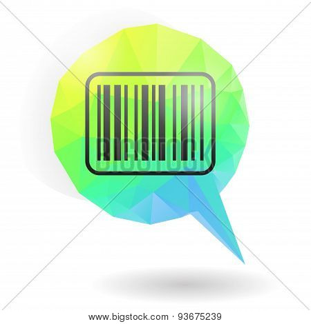 Barcode icon on message bubble