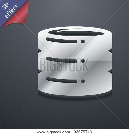 Hard Disk Icon Symbol. 3D Style. Trendy, Modern Design With Space For Your Text, Vector
