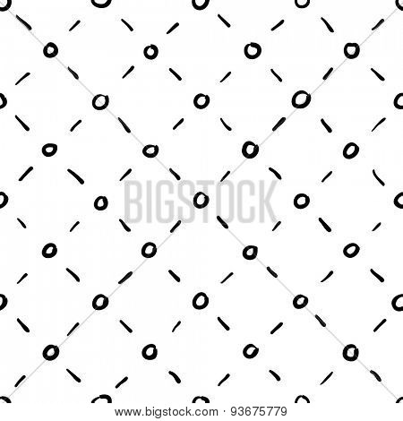 Seamless rhombic black and white background
