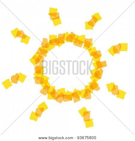 Sun icon with small pieces