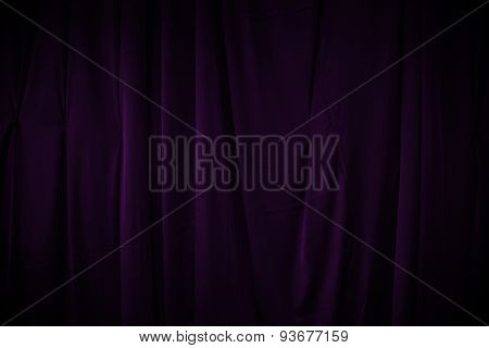 Curtain Or Drapes Dark Purple Background