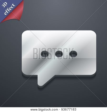 Cloud Of Thoughts Icon Symbol. 3D Style. Trendy, Modern Design With Space For Your Text Vector