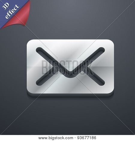 Mail, Envelope, Letter Icon Symbol. 3D Style. Trendy, Modern Design With Space For Your Text Vector