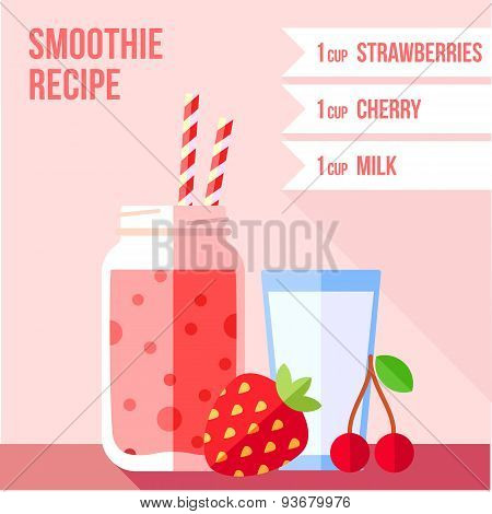 Strawberry And Cherry Smoothie Recipe