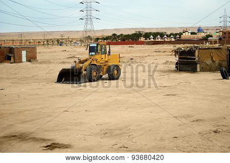 Tractor In The Desert