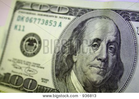 Close Up Of A One Hundred Dollar Bill