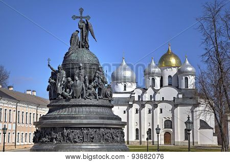 Saint Sophia Cathedral and Monument to the Thousand Years of Russia (Millennium of Russia, 1862). V