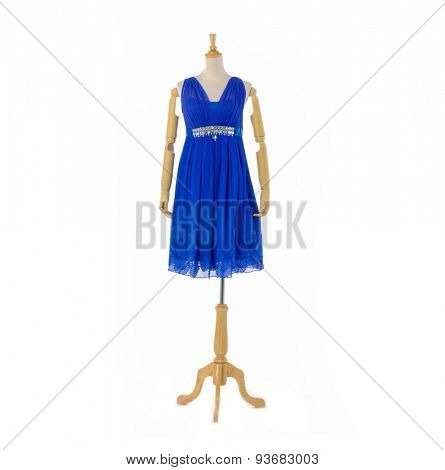 Full length female blue sundress on mannequin