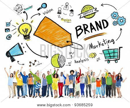 Diverse People Celebration Marketing Brand Concept