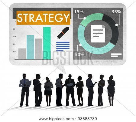 Business People Strategy Planning Tactics Concept