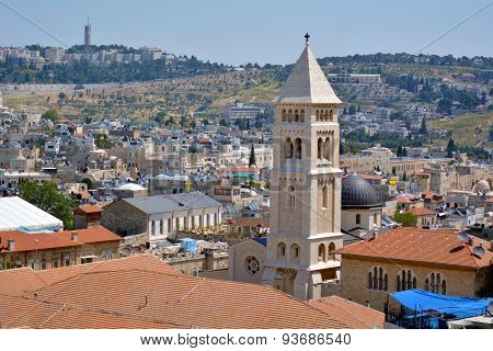 Lutheran Church Of The Redeemer In Old City Of Jerusalem, Israel