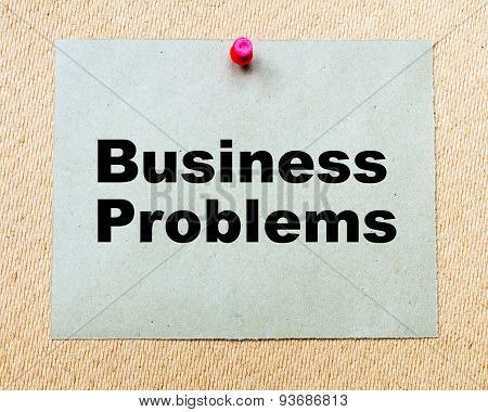 Business Problems  Written On Paper Note
