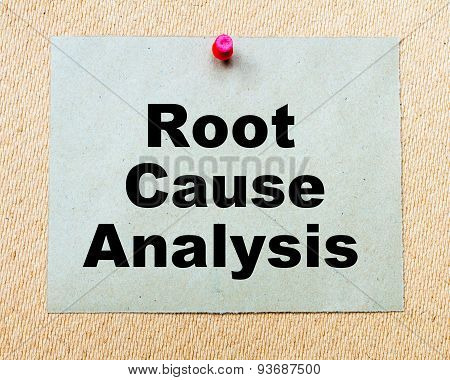 Root Cause Analysis  Written On Paper Note