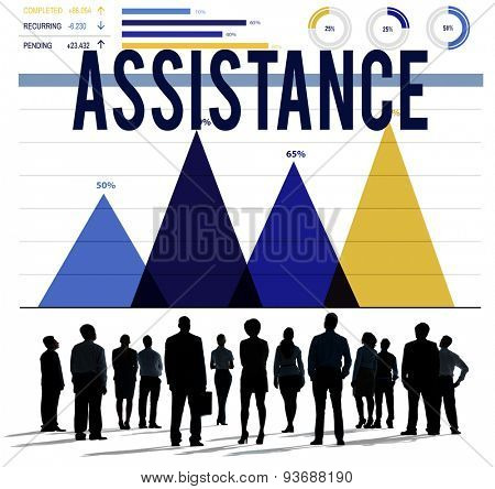 Assistance Support Organization Help Partnership Concept