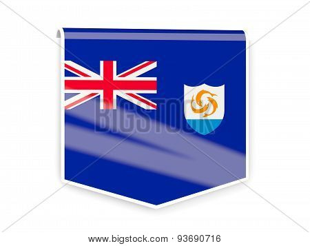 Flag Label Of Anguilla