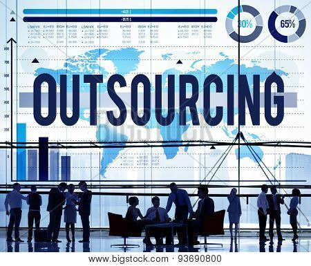 Outsourcing Career Employment Hiring Recruitment Concept