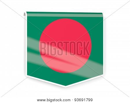 Flag Label Of Bangladesh