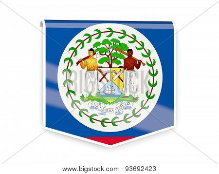 Flag Label Of Belize