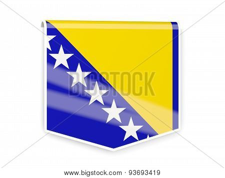 Flag Label Of Bosnia And Herzegovina