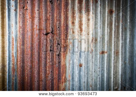 Old Galvanized Steel For Background