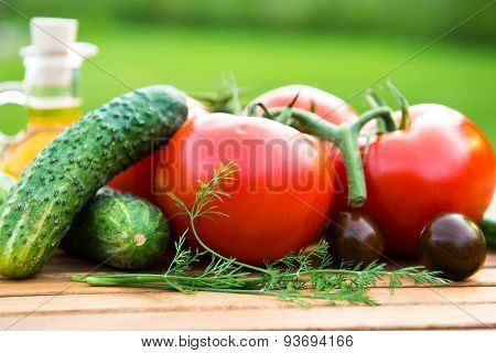 Cucumber And Tomatoes
