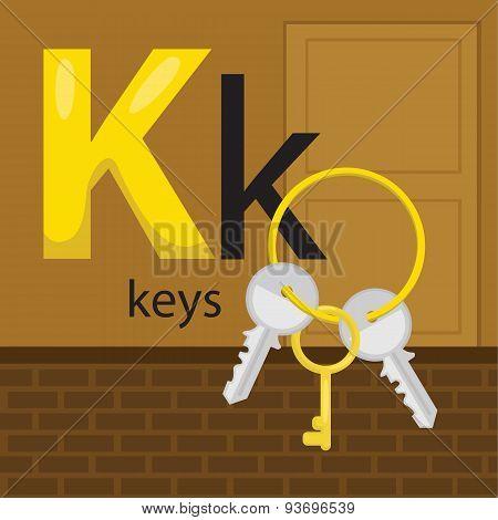 K for keys