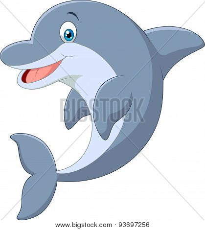 Cartoon Standing Dolphin