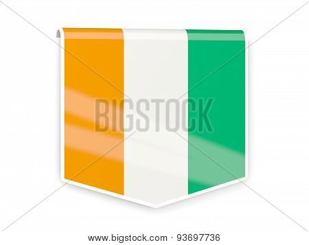 Flag Label Of Cote D Ivoire