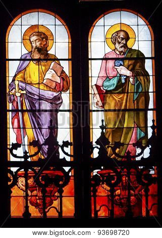 Disciples James Peter Stained Glass San Francisco El Grande Royal Basilica Madrid Spain