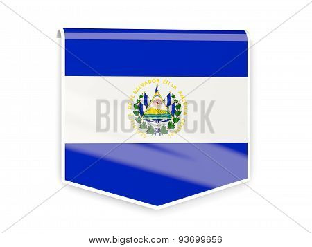 Flag Label Of El Salvador