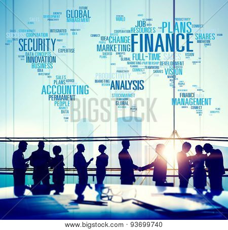 Finanance Security Global Analysis Management Accounting Concept