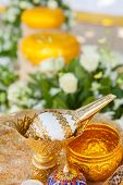 image of cultural artifacts  - Thai wedding object  - JPG